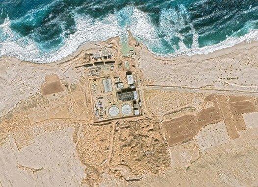 صورة فضائية تكشف عن مفاعل الضبعة النووية في مصر