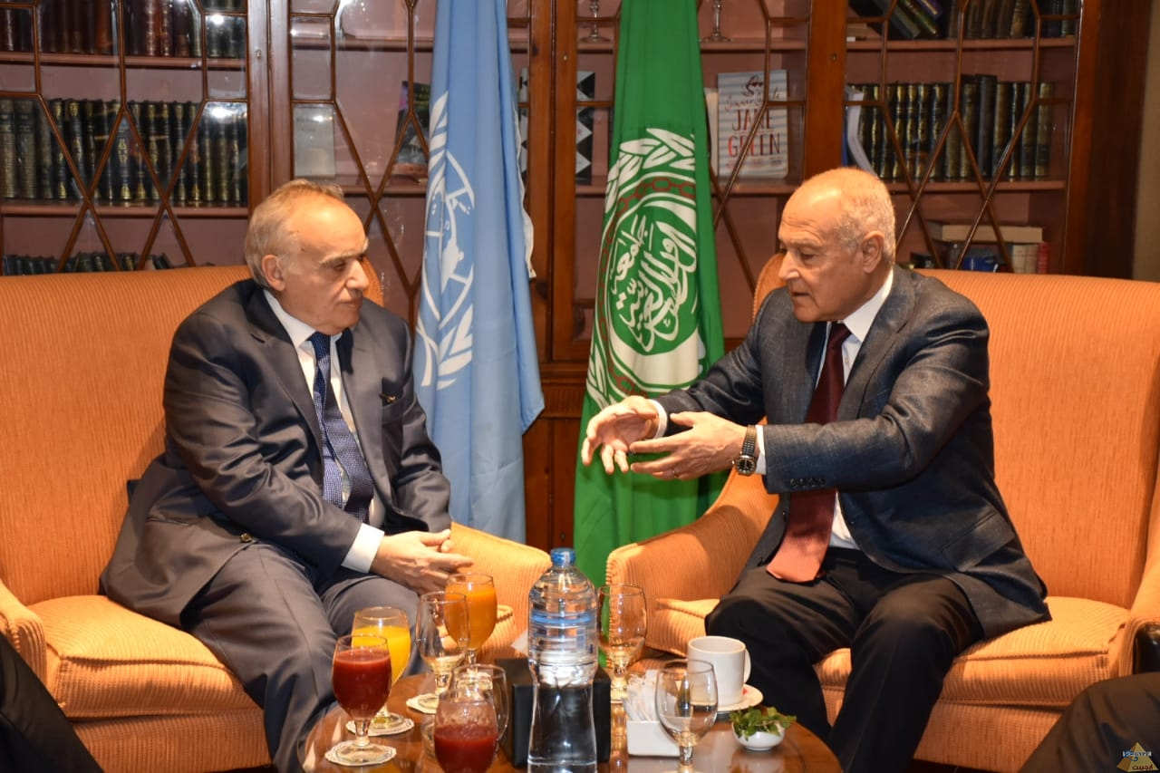 أبو الغيط يبحث مع غسان سلامة سبل حلحلة الأزمة في ليبيا