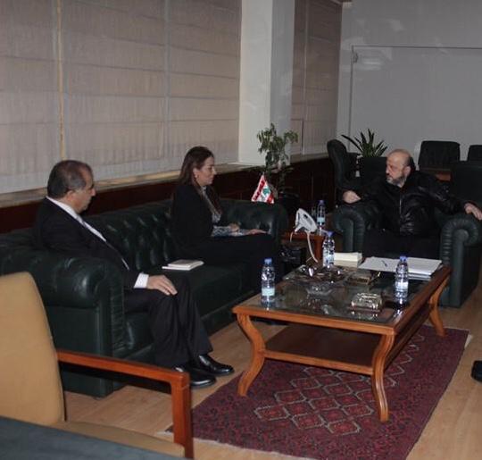 الوزيرة غنيمات بحثت مع وزير الاعلام اللبناني التعاون المشترك