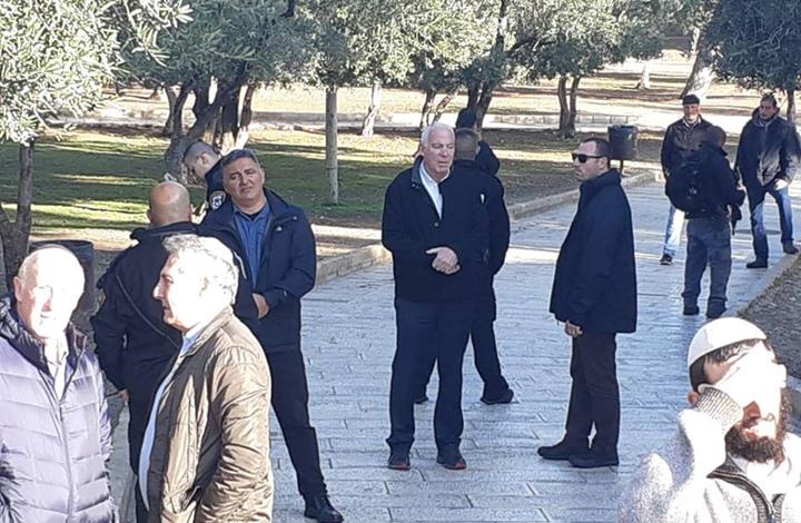 وزير اسرائيلي يقود اقتحامات مستوطنين متطرفين للمسجد الأقصى
