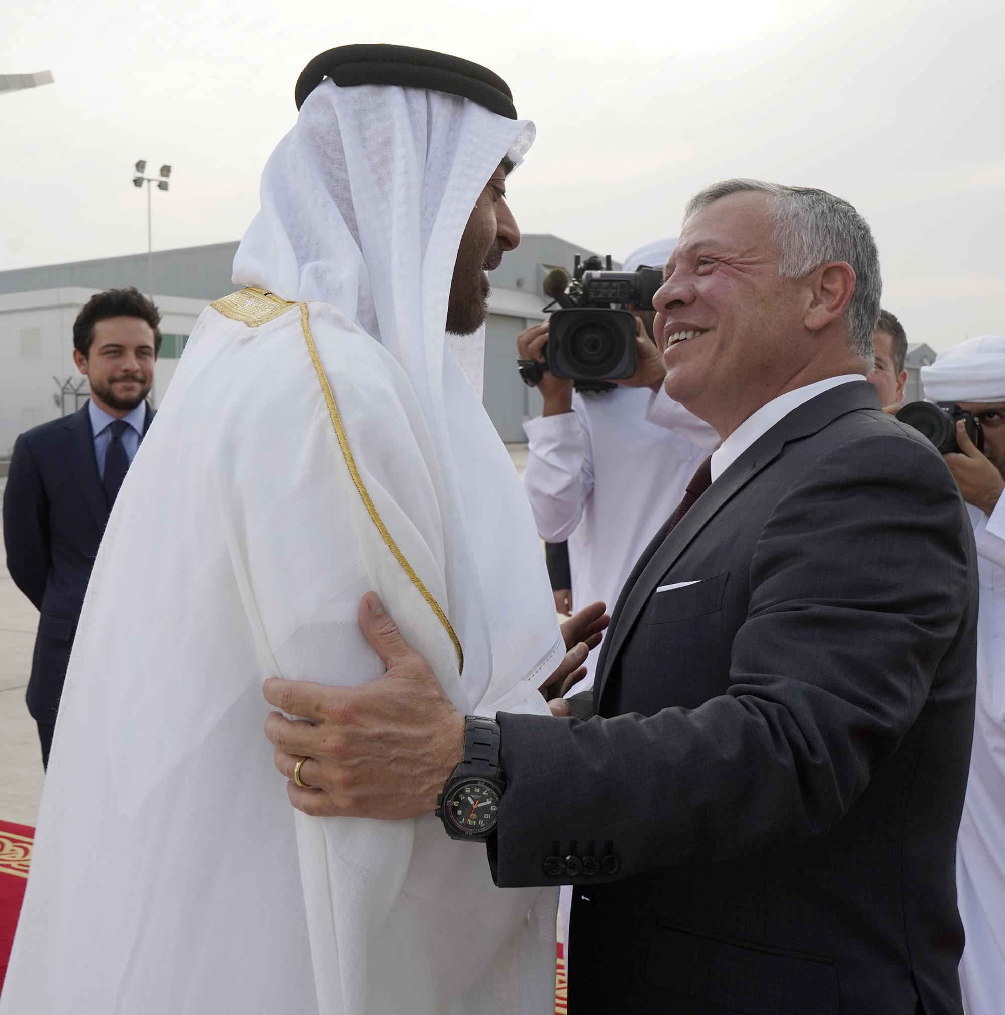 جلالة الملك عبدالله الثاني يصل إلى الإمارات