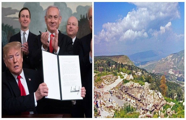 رفض واسع لاعتراف ترامب بسيادة إسرائيل على الجولان المحتل وتحذيرات من التداعيات