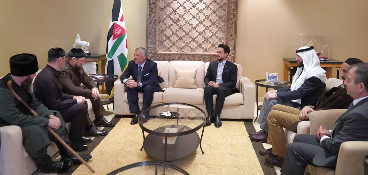 جلالة الملك عبدالله الثاني يلتقي الرئيس الشيشاني