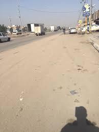 انتشار الأتربة على حواف الطرق في أبو نصير