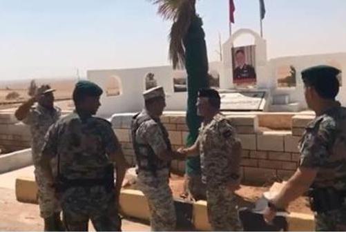 الملك يفاجئ كتيبة الدفاع الجوي الميداني 73