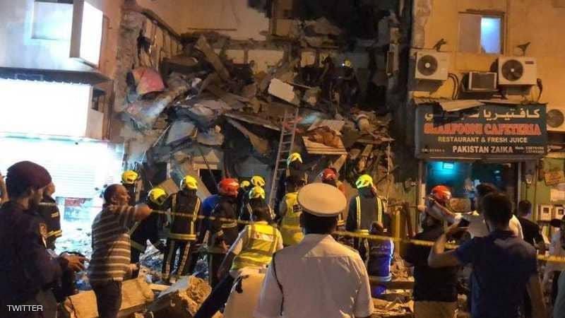إصابات في انهيار مبنى في العاصمة البحرينية
