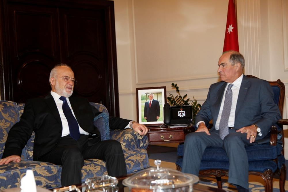 الملقي يستقبل وزير الخارجية العراقي