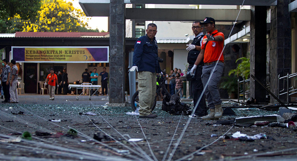 إنفجار في مبنى تابع للشرطة الإندونيسية