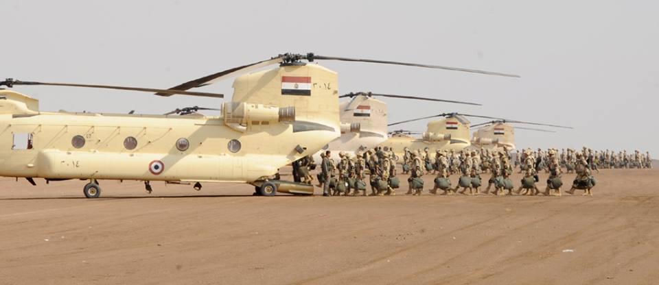 الجيش المصري يقضي على عشرات الإرهابيين شمالي سيناء