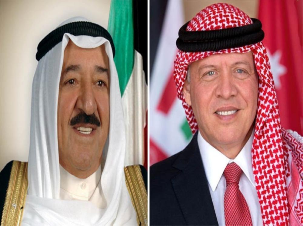جلالة الملك عبدالله الثاني وأمير دولة الكويت يتبادلان التهاني بمناسبة قرب حلول عيد الفطر