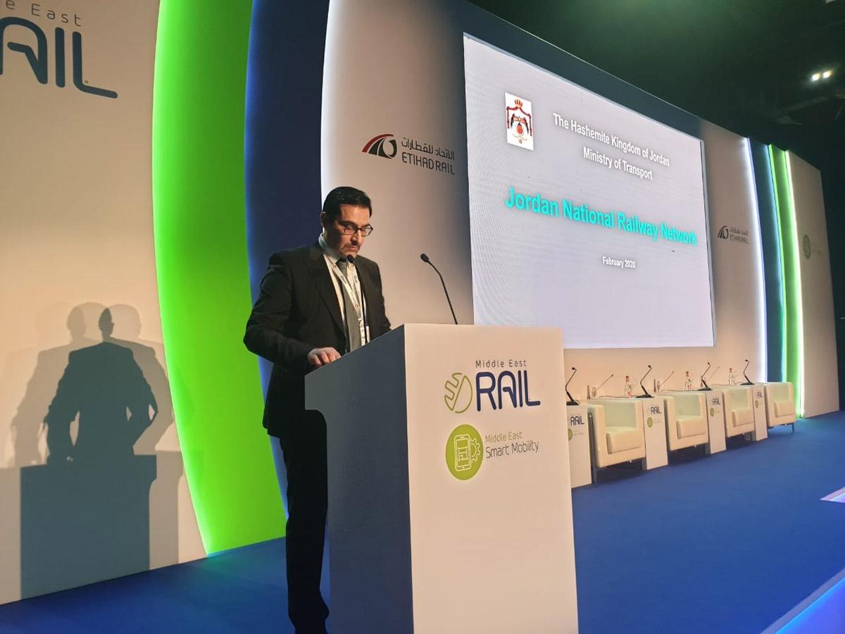 وزير النقل يستعرض مشروع الأردن أمام مؤتمر السكك الحديدية بالشرق الأوسط في دبي