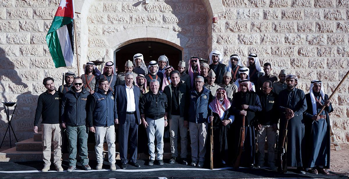 جلالة الملك عبدالله الثاني يزور منتجع سنام السياحي في وادي رم