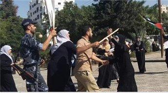 شرطة حماس تعتدي بالضرب على مسيرة نسوية