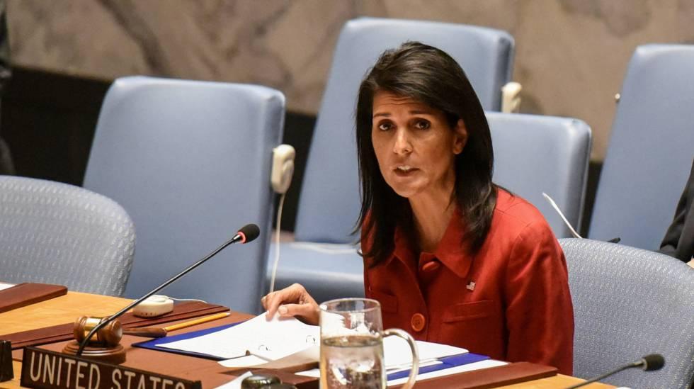 السفيرة الاميركية بالامم المتحدة هايلي تقع في فخ مخادعين روسيين