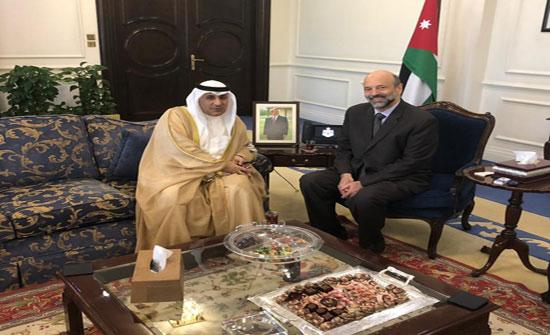 الرزاز يلتقي السفير الكويتي
