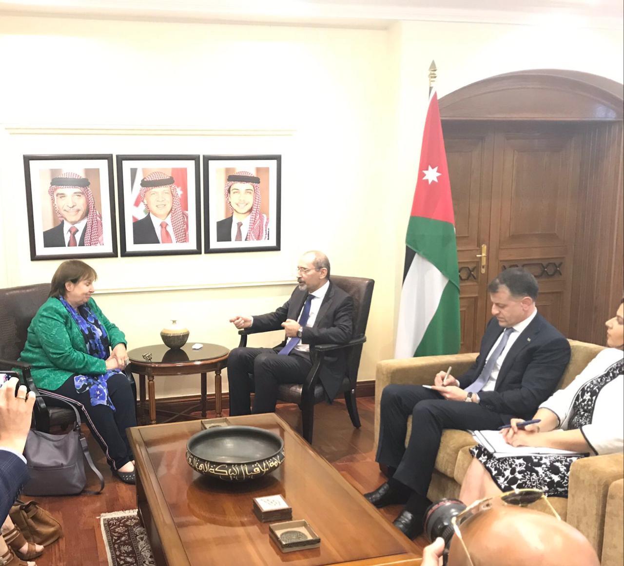 الصفدي يؤكد أهمية الدور الأوروبي لحل الصراع الفلسطيني الاسرائيلي وفق حل الدولتين