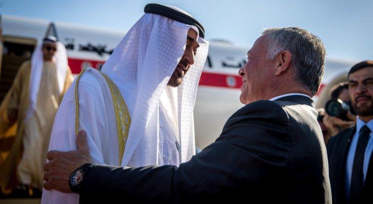 جلالة الملك عبدالله الثاني يتبادل التهاني مع سمو ولي عهد أبوظبي بمناسبة قرب حلول عيد الفطر