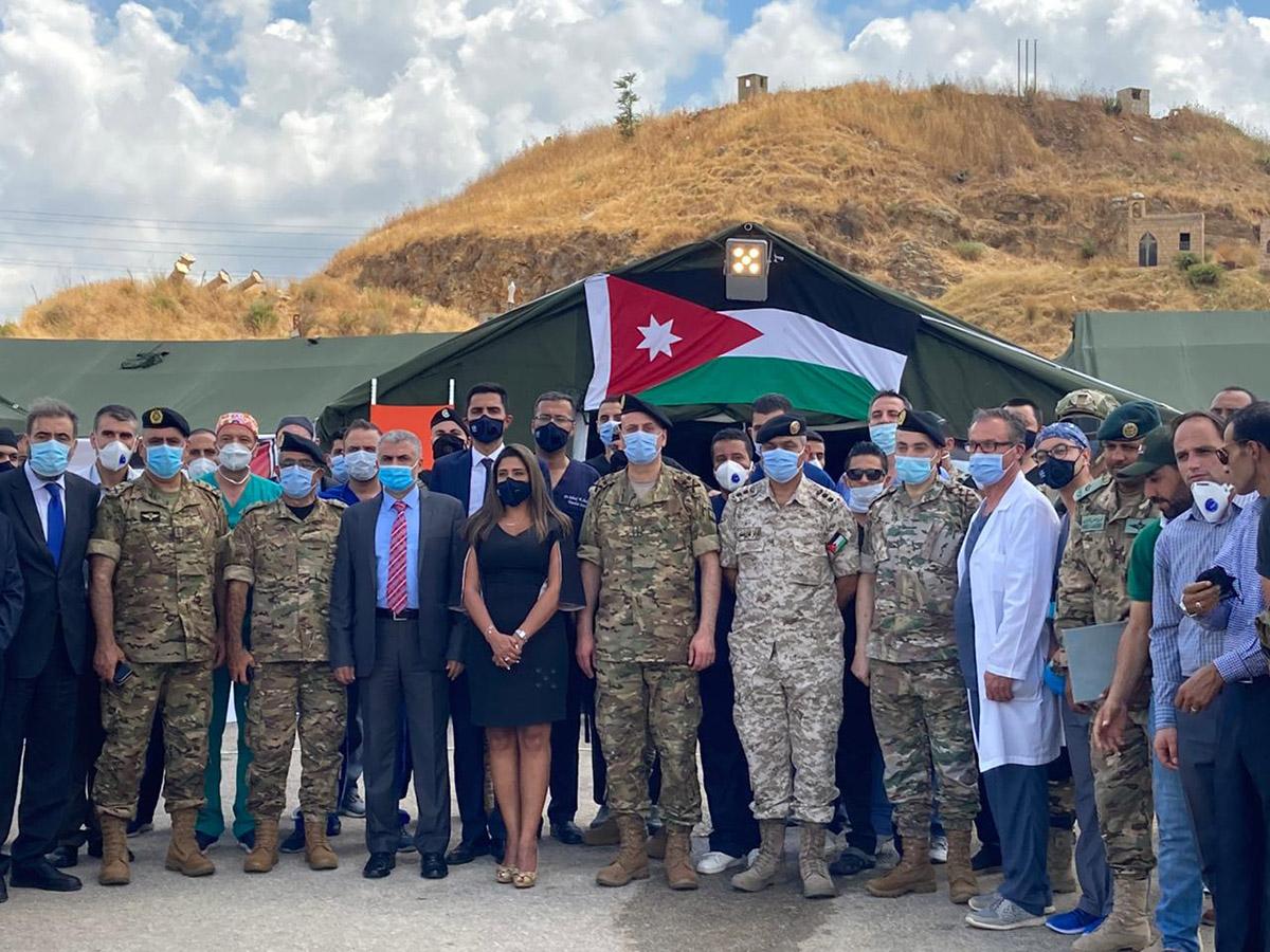 إفتتاح المستشفى الميداني الأردني في لبنان بالتعاون مع الجيش اللبناني