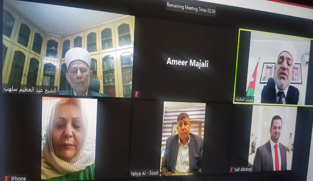 فلسطين النيابية تبحث عبر تقنية زووم آخر المستجدات المتعلقة بالأقصى