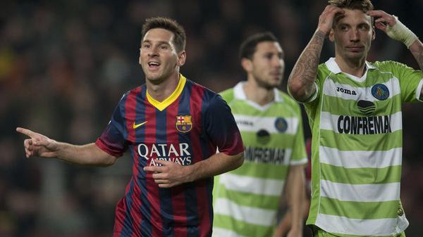 برشلونة يسحق خيتافي في ليلة عودة ميسي