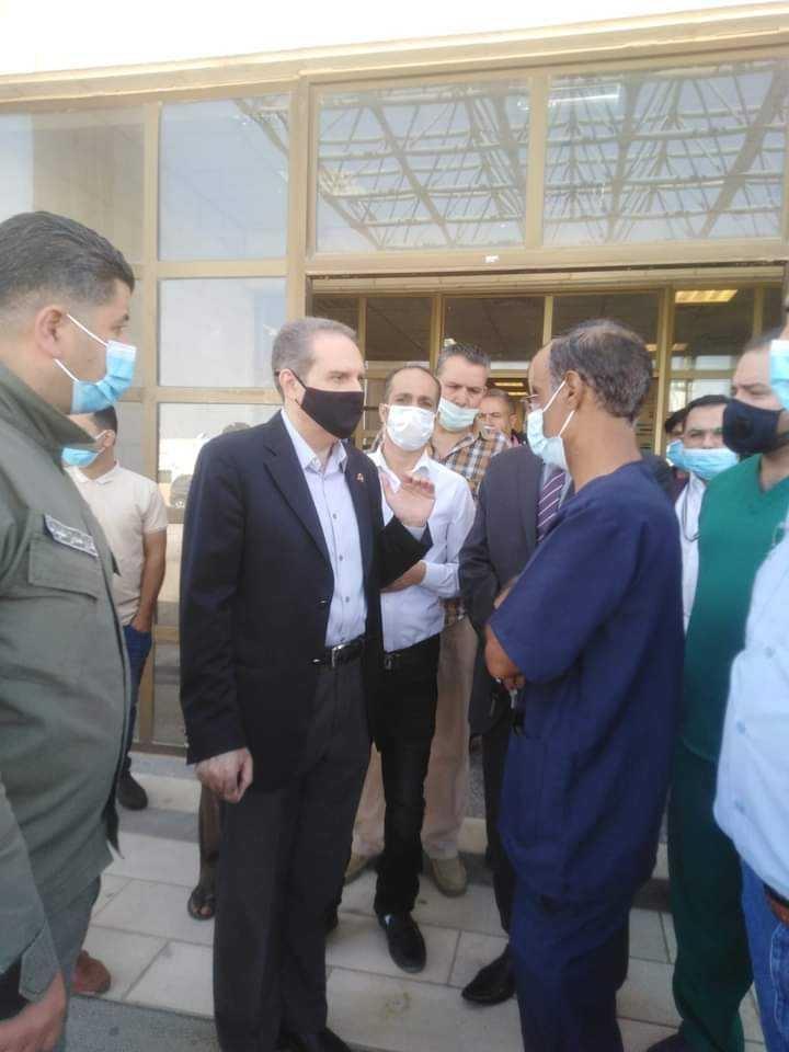 وزير الصحة يتفقد واقع الخدمات المقدمة بمستشفيي المفرق الحكومي والبادية الشمالية
