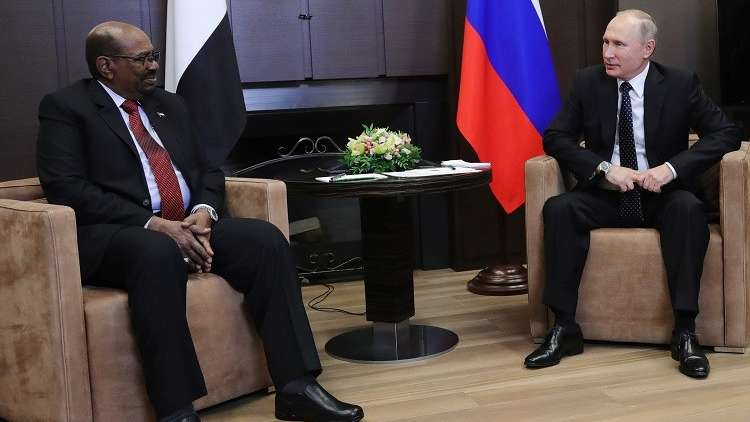 البشير في موسكو الجمعة للقاء بوتين وحضور نهائي كأس العالم