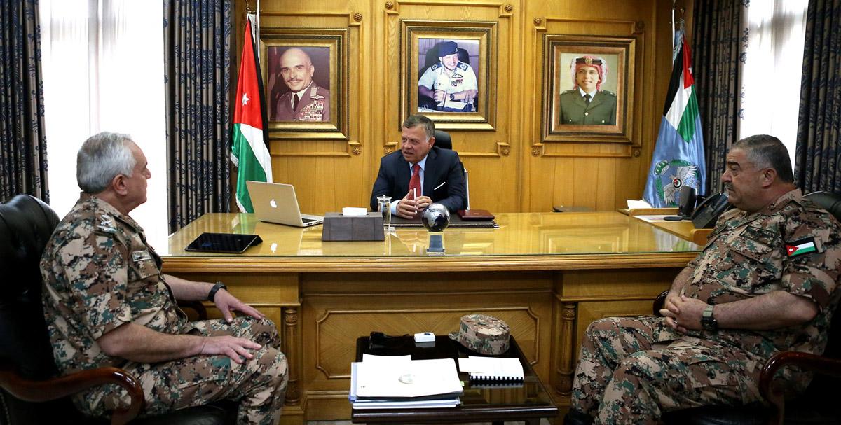 جلالة الملك عبدالله الثاني القائد الأعلى للقوات المسلحة يزور قيادة سلاح الجو الملكي