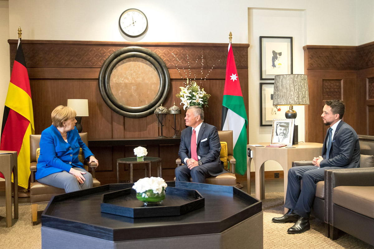 خلال لقائه ميركل...الملك عبدالله : الصراع الفلسطيني الإسرائيلي ما زال هو القضية المحورية في المنطقة