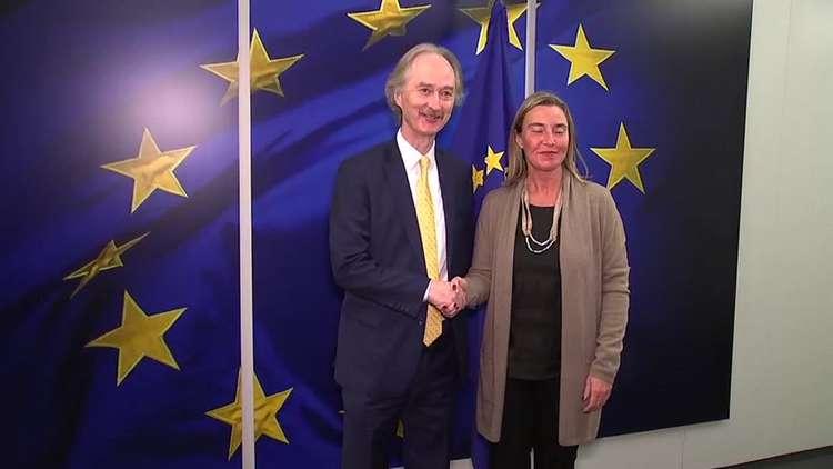 موغيريني تؤكد للمبعوث الأممي إلى سوريا دعم الاتحاد الأوروبي لعملية جنيف للسلام