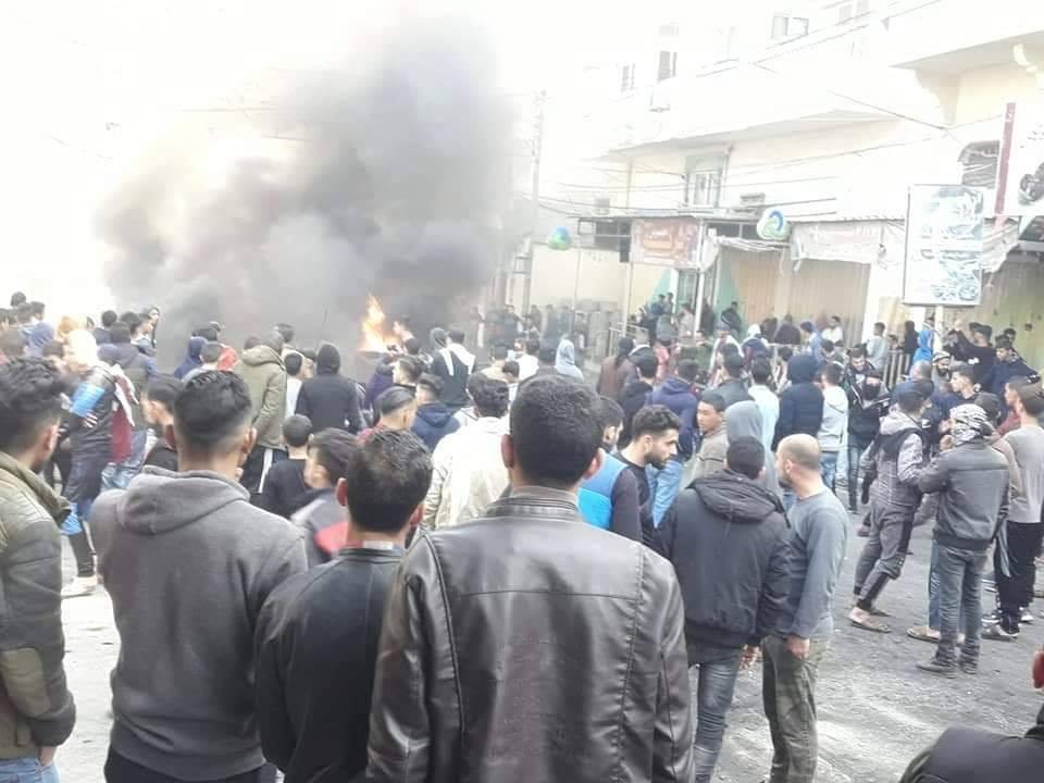يوم الغضب الثاني من الحراك الشعبي (#بدنا_نعيش) مشاركة بالألاف وحماس تعتدي عليهم.