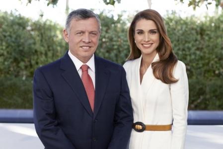 عودة جلالة الملك عبدالله الثاني ترافقه جلالة الملكة رانيا العبدالله إلى أرض الوطن