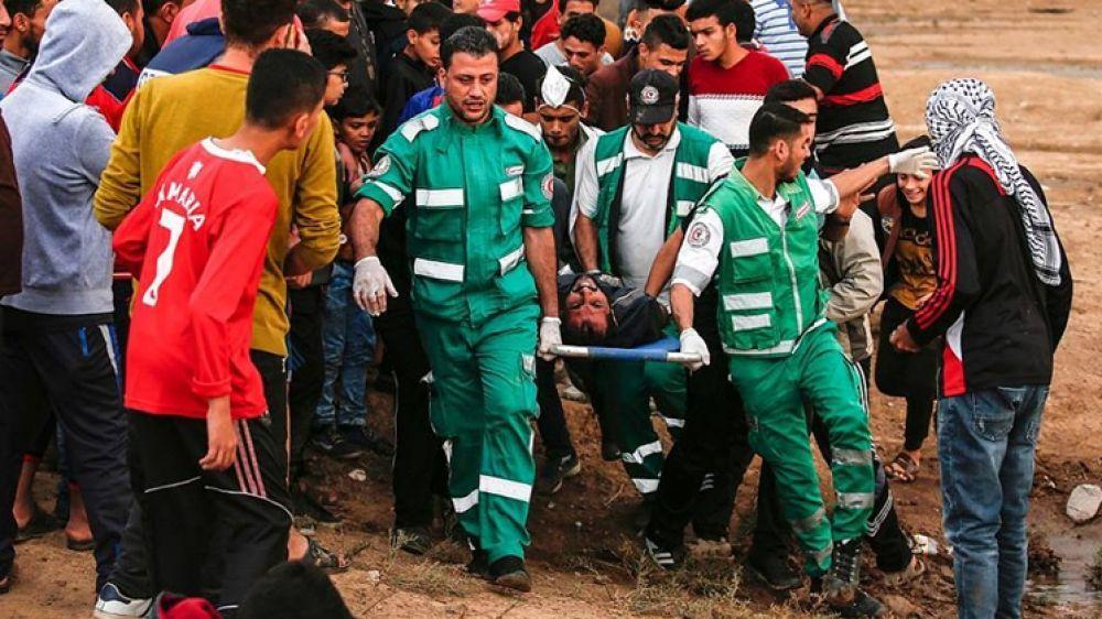 الصحة:إصابة 5 مواطنين خلال الجمعة الـ45 لمسيرات العودة شرق قطاع غزة