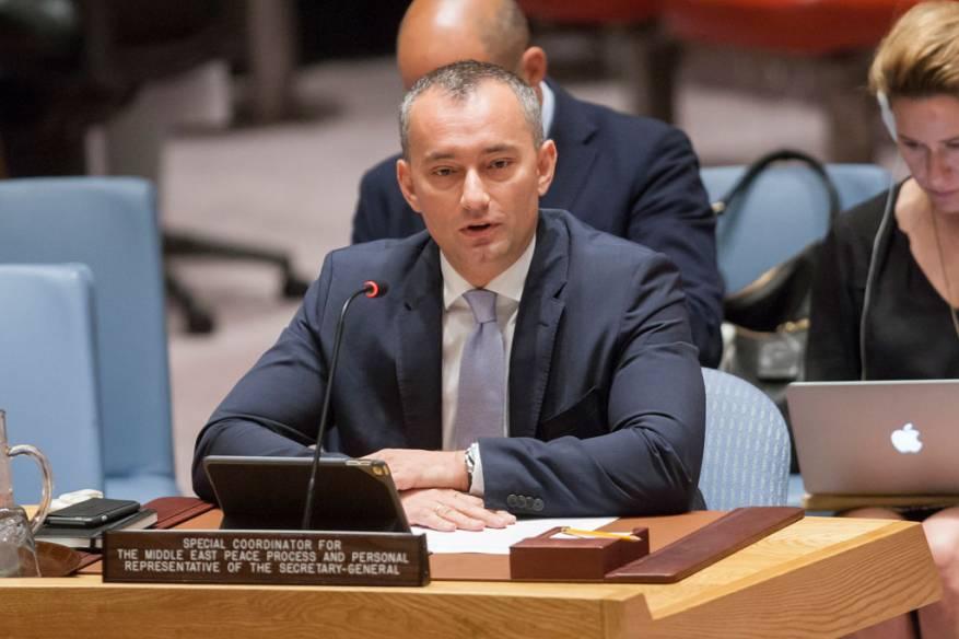 ملادينوف: الوضع في الضفة والقدس ينذر بالخطر والانقسام الفلسطيني يمنع تحسين حياة أهل غزة