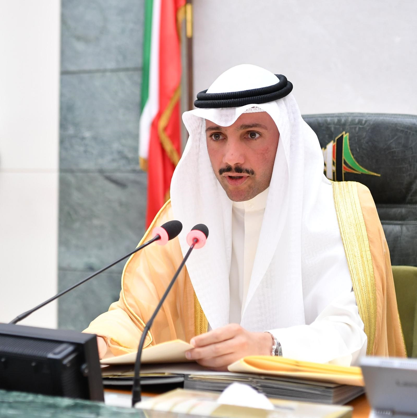رئيس البرلمان الكويتي الغانم: الأوضاع بالمنطقة ليست مطمئنة ونستعد لحالة حرب