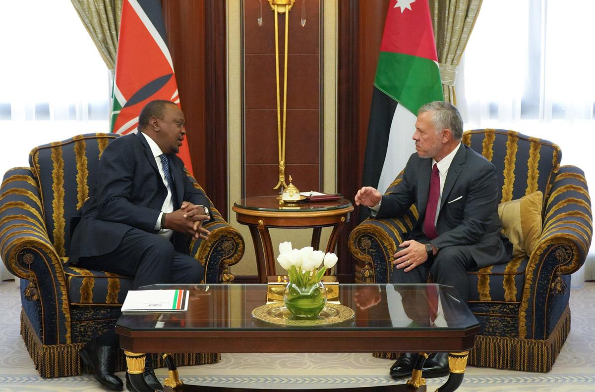 جلالة الملك عبدالله الثاني يلتقي مع الرئيس الكيني