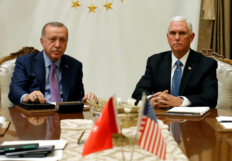 تفاصيل الاتفاق التركي الأمريكي بعد لقاء بينس واردوغان لوقف العدوان على سوريا