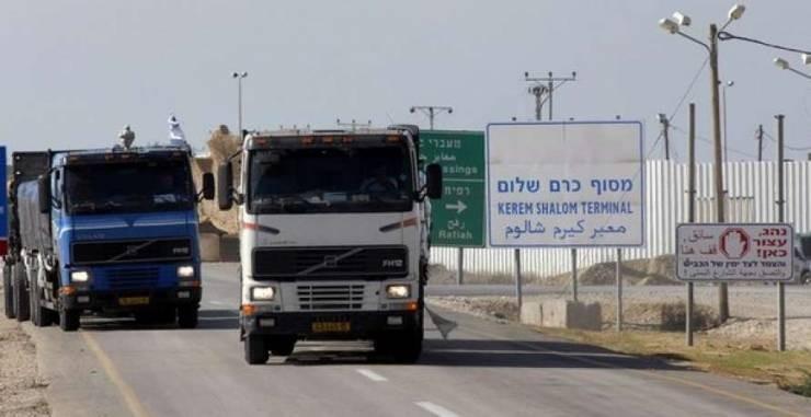 الاحتلال الإسرائيلي يبدأ بتطبيق قرار منع إدخال البضائع وتقليص مساحة الصيد بغزة