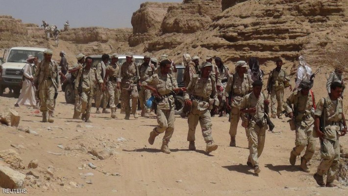 """الجيش اليمني مدعوماً بالتحالف يخوض معارك عنيفة ضد الحوثى فى """"كتاف"""""""