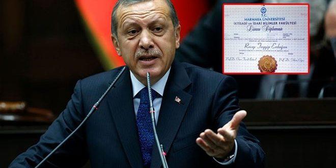 إتحاد الكتّاب العدل الأتراك القضية يفتح قضية شهادة أردوغان الجامعية المزيفة