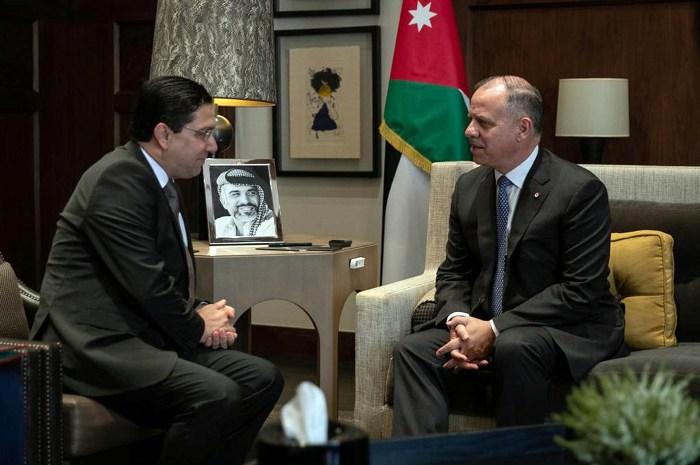 نائب جلالة الملك يستقبل وزير الشؤون الخارجية والتعاون الدولي المغربي