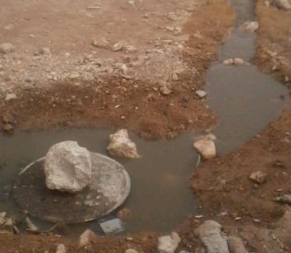 الرصيفة...فيضان الصرف الصحي من قبل العيد