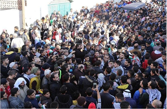 مسیرة حاشدة وسط عمان رفضا لقرار ترامب