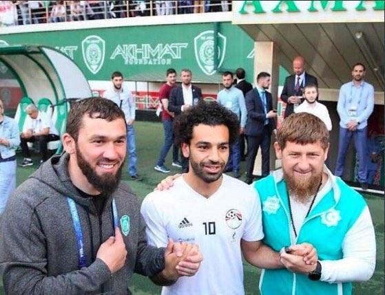 رئيس الشيشان يحتفي بمحمد صلاح