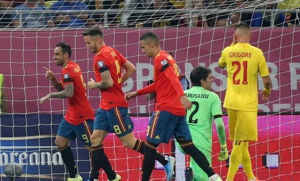 إسبانيا تنتزع فوزا شاقا من رومانيا بتصفيات اليورو