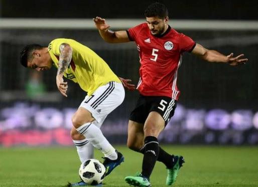 مصر تفلت من الهزيمة أمام كولومبيا