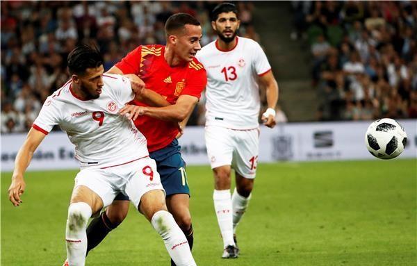 إسبانيا تكسر صمود تونس بقدم أسباس