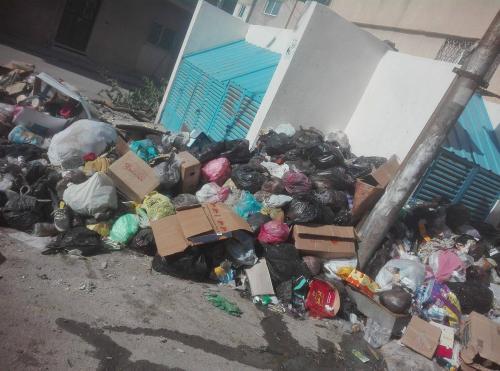تراكم النفايات في مخيم اربد ...