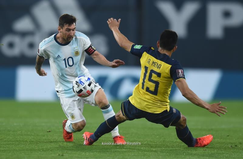 ميسي يقود الأرجنتين للانتصار على الإكوادور بتصفيات المونديال