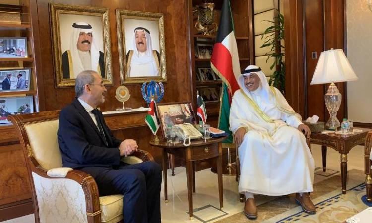 الصفدي والصباح يؤكدان متانة العلاقات الأردنية الكويتية