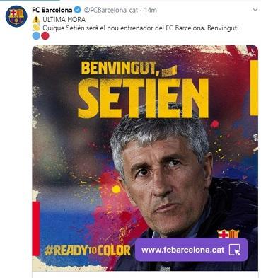 رسميًا.. كيكي سيتين مدربًا لبرشلونة حتى 2022